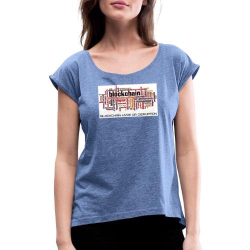 Maglietta Blockchain - Maglietta da donna con risvolti