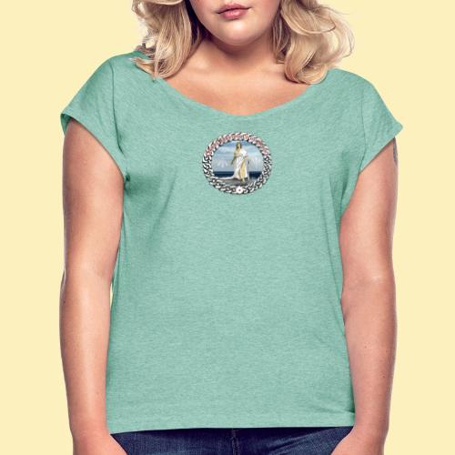 Ordre Druidique de Dahut Logo - T-shirt à manches retroussées Femme