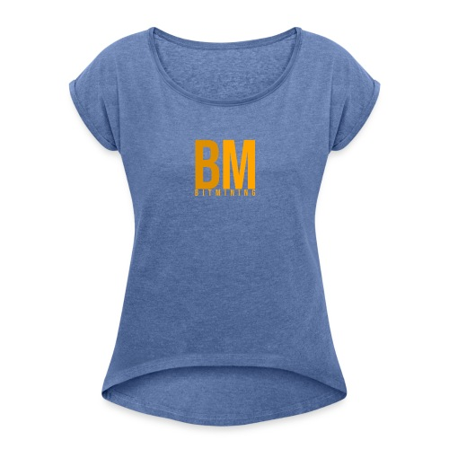 logo 500x500 transparent - T-shirt à manches retroussées Femme