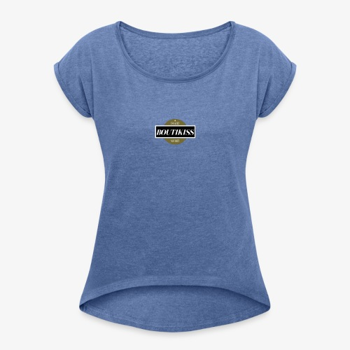 boutikiss - T-shirt à manches retroussées Femme