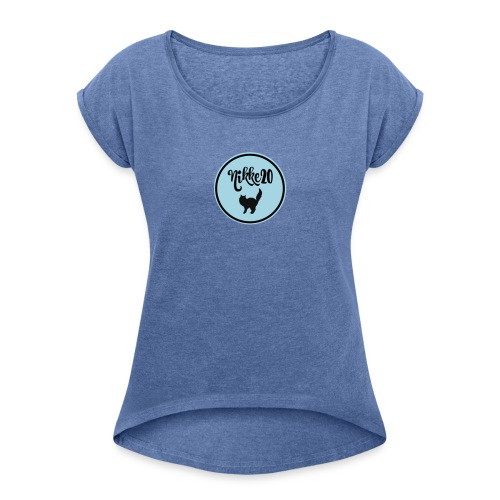 nikke20 - Naisten T-paita, jossa rullatut hihat