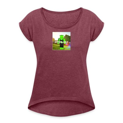 xItsMeJqris - Vrouwen T-shirt met opgerolde mouwen