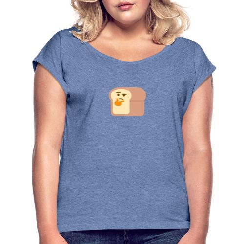 Thinking bread - T-shirt à manches retroussées Femme