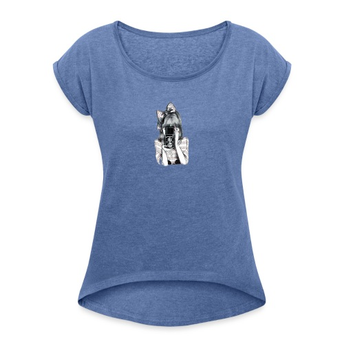 Photoshop - Camiseta con manga enrollada mujer