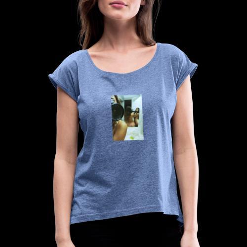 Caviar design presenting Eva - Frauen T-Shirt mit gerollten Ärmeln