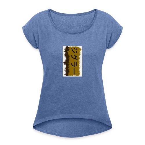 Japan Tee - Frauen T-Shirt mit gerollten Ärmeln