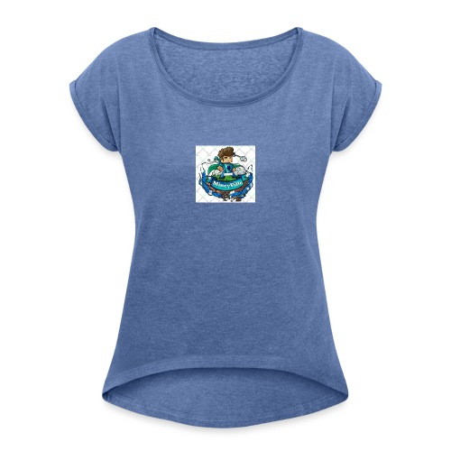 MineyVille Herre T-Shirt - Dame T-shirt med rulleærmer