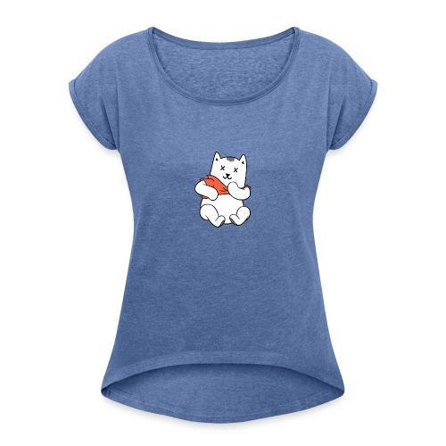 Winnie De Poes - Vrouwen T-shirt met opgerolde mouwen