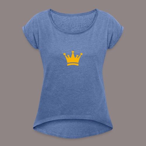 Kronen Produkte - Frauen T-Shirt mit gerollten Ärmeln