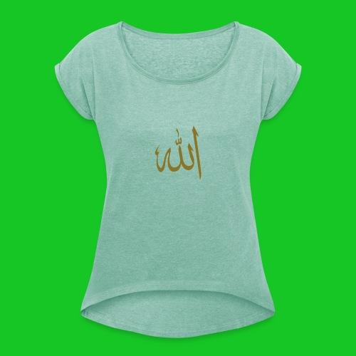 Allah - Vrouwen T-shirt met opgerolde mouwen