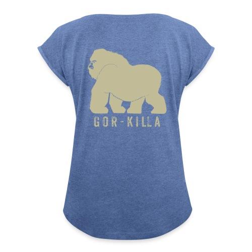 Gor-Killa - Maglietta da donna con risvolti