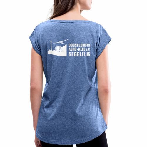 DAeK - Frauen T-Shirt mit gerollten Ärmeln