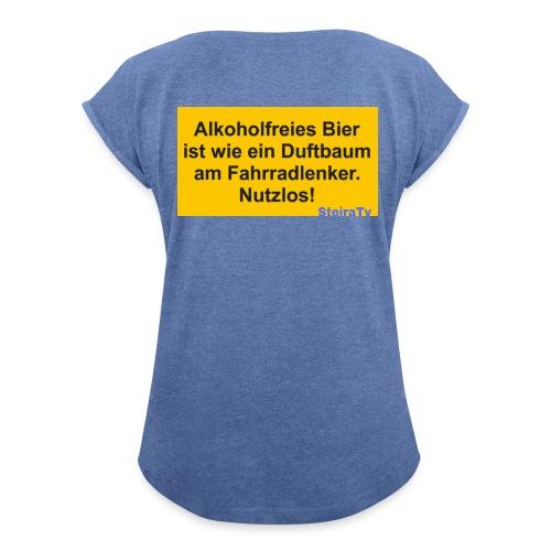 PicsArt 02 24 04 33 01 - Frauen T-Shirt mit gerollten Ärmeln