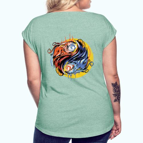 Japan Phoenix - Women's T-Shirt with rolled up sleeves