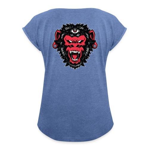logo bearded monkeys - T-shirt à manches retroussées Femme