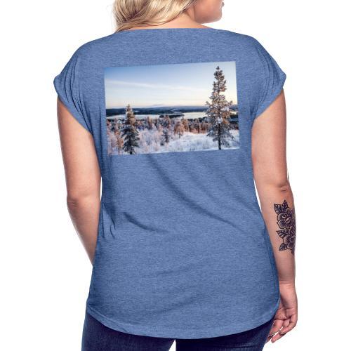 LAPPI 1 - Naisten T-paita, jossa rullatut hihat