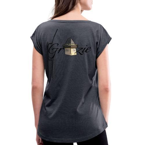 Grazie Line - Frauen T-Shirt mit gerollten Ärmeln
