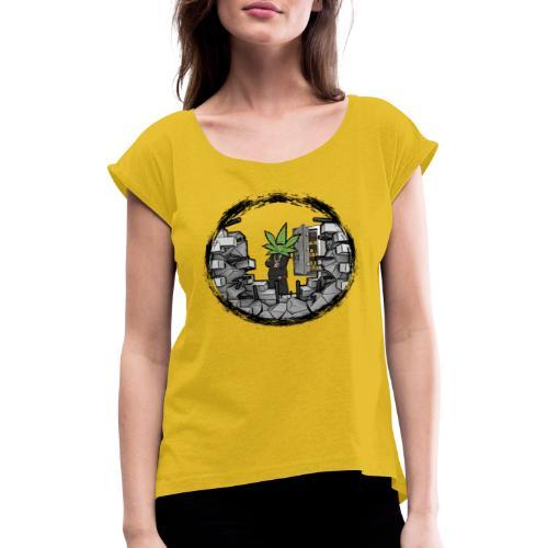 Tresor - Frauen T-Shirt mit gerollten Ärmeln
