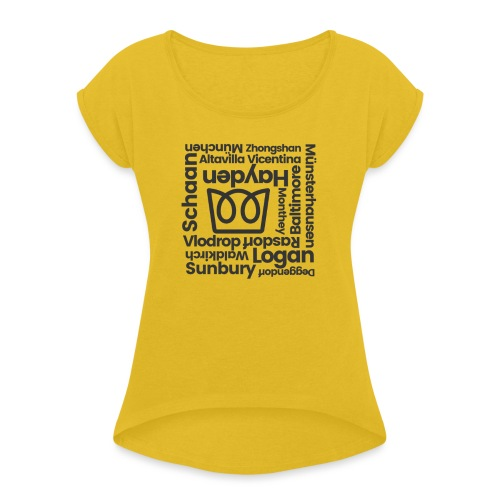 Manufacturer Roll Call - Women's T-Shirt with rolled up sleeves