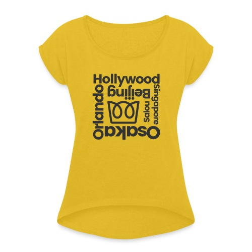 From Hollywood - Women's T-Shirt with rolled up sleeves