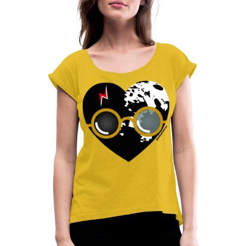 Spotted.Horse - Maglietta da donna con risvolti