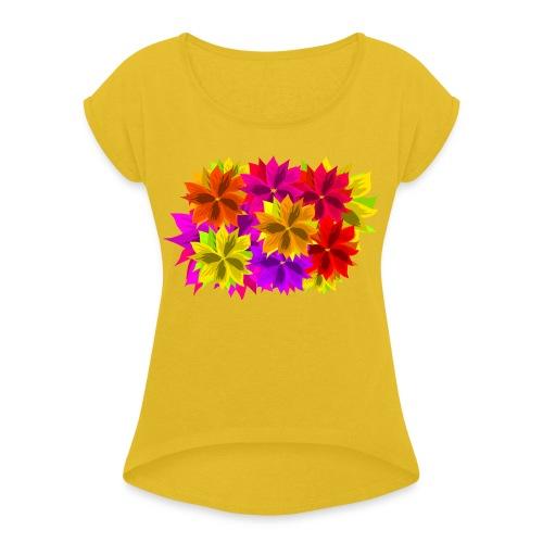 Wirwar - Vrouwen T-shirt met opgerolde mouwen