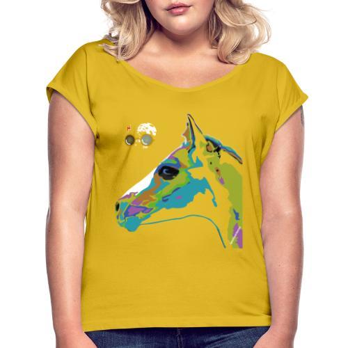 Spotted.Horse Appaloosa Colt Pop Art - Maglietta da donna con risvolti