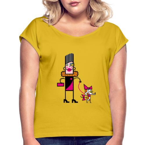 Animal 1 - Maglietta da donna con risvolti