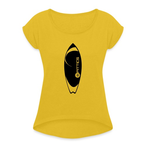 surf board fittics - Women's T-Shirt with rolled up sleeves