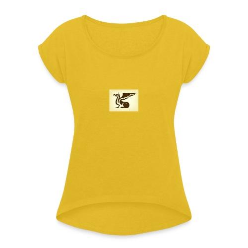 Iran bird - T-shirt med upprullade ärmar dam
