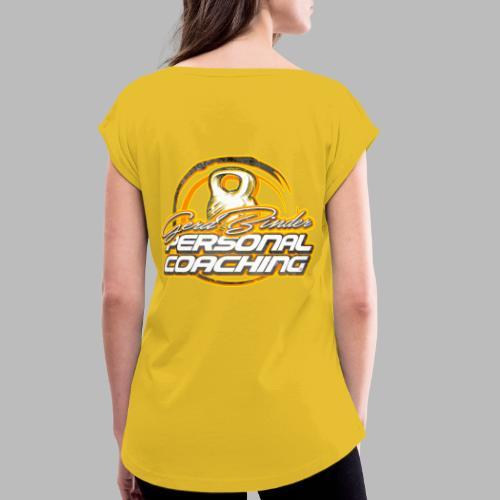 GerdB_2Print_20 (bitte max. 40° verkehrt waschen) - Frauen T-Shirt mit gerollten Ärmeln