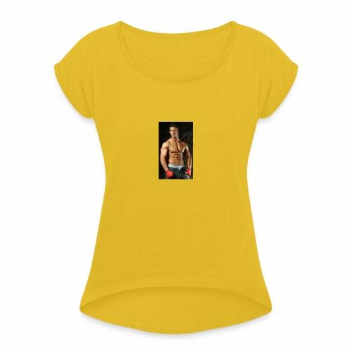 c'est moi - T-shirt à manches retroussées Femme