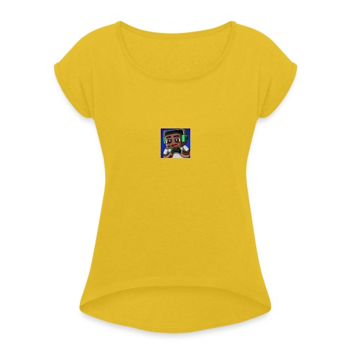 This is the official ItsLarssonOMG merchandise. - Women's T-Shirt with rolled up sleeves