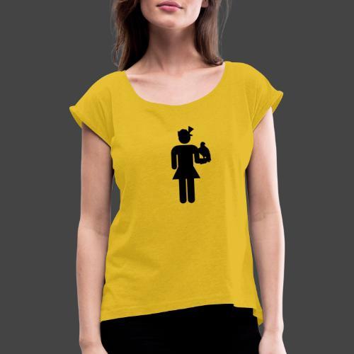 Falknerin-Shirt für Jägerinnen - Frauen T-Shirt mit gerollten Ärmeln