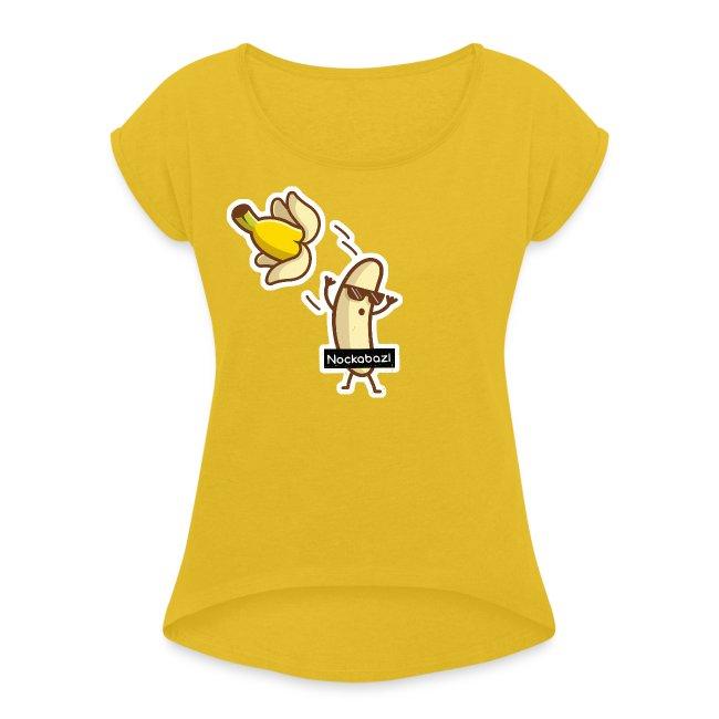 Vorschau: Nockabazl - Frauen T-Shirt mit gerollten Ärmeln
