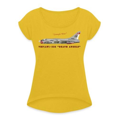 F-8 Crusader VMF-235 Death Angels - T-shirt à manches retroussées Femme