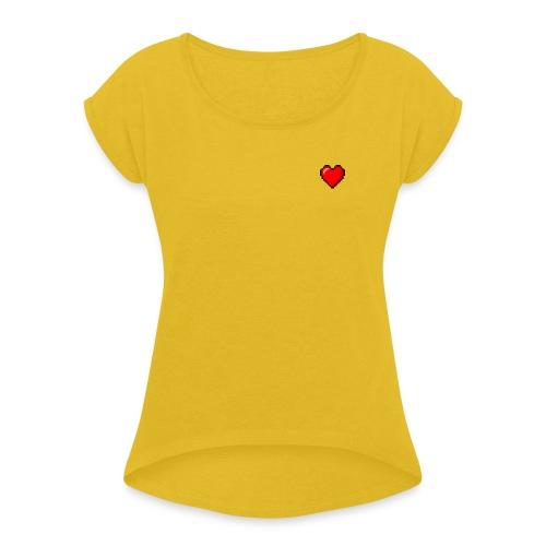 8BIT HEART - Camiseta con manga enrollada mujer