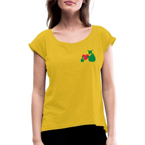 Koala Heart Baby - Women's T-Shirt with rolled up sleeves