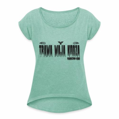 KNG - T-shirt à manches retroussées Femme