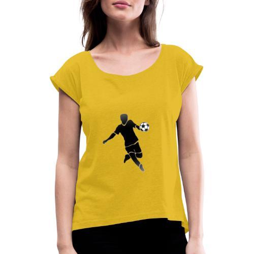 SOCCER - Camiseta con manga enrollada mujer