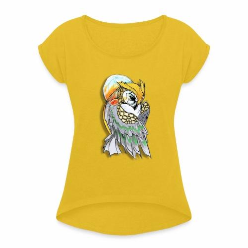 Cosmic owl - Camiseta con manga enrollada mujer