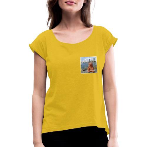 EDDY - Vienna calling - Frauen T-Shirt mit gerollten Ärmeln