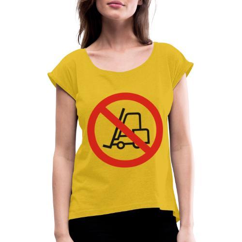 Stapler Crew Stagehand - Frauen T-Shirt mit gerollten Ärmeln