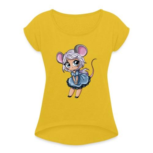 Petite Souris - T-shirt à manches retroussées Femme
