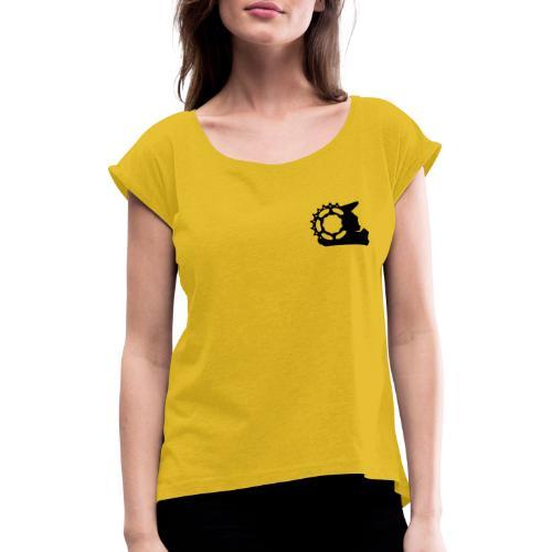 Black White - Combined - Frauen T-Shirt mit gerollten Ärmeln