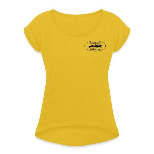 Beidseitig - Frauen T-Shirt mit gerollten Ärmeln