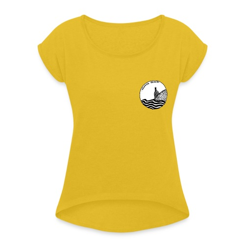 sewage beach - Women's T-Shirt with rolled up sleeves