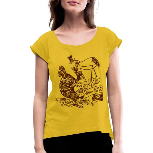 Dronte - Frauen T-Shirt mit gerollten Ärmeln