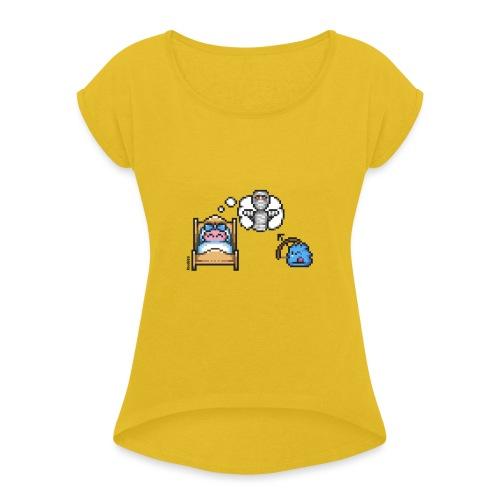 Dream Guardian - Frauen T-Shirt mit gerollten Ärmeln