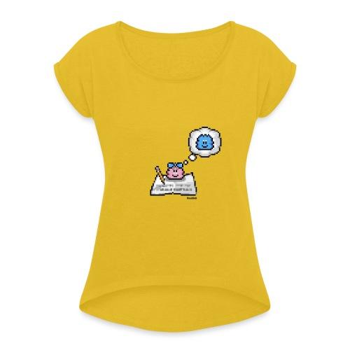Loveletter - Girl - Frauen T-Shirt mit gerollten Ärmeln